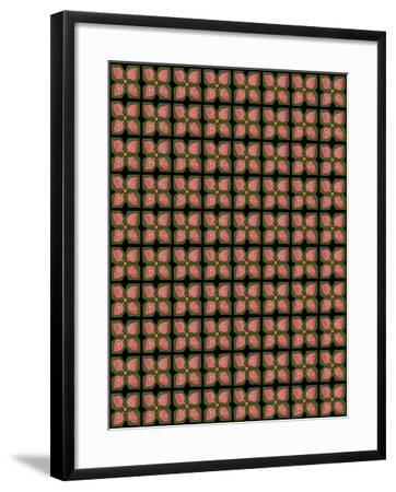 Christmas Pontsettia Repeat-Cyndi Lou-Framed Giclee Print