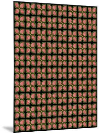 Christmas Pontsettia Repeat-Cyndi Lou-Mounted Giclee Print