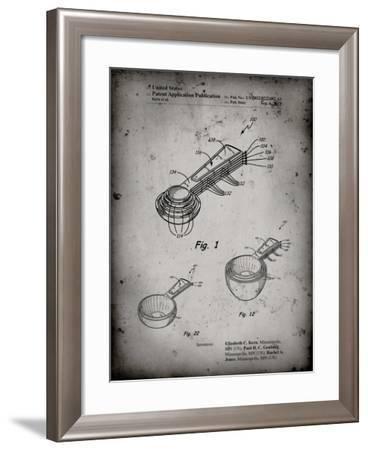 PP484-Faded Grey Stacking Measuring Cups Patent Poster-Cole Borders-Framed Giclee Print