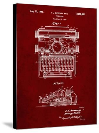 PP1029-Burgundy School Typewriter Patent Poster Giclee Print by Cole  Borders | Art com