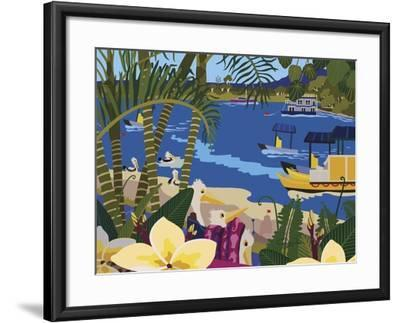 A Tropical Summer Day-Cindy Wider-Framed Giclee Print
