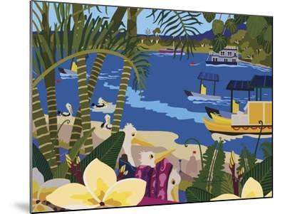 A Tropical Summer Day-Cindy Wider-Mounted Giclee Print