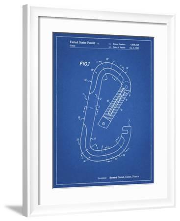 PP83-Blueprint Oval Carabiner Patent Poster-Cole Borders-Framed Giclee Print