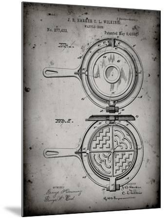 PP209-Faded Grey Waffle Iron Patent Poster-Cole Borders-Mounted Giclee Print