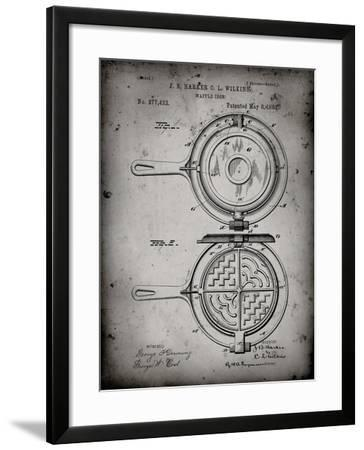 PP209-Faded Grey Waffle Iron Patent Poster-Cole Borders-Framed Giclee Print