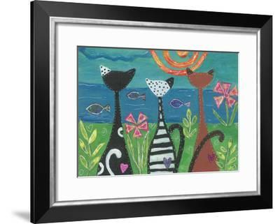 EC-102-Cats - Serenity-Elizabeth Claire-Framed Giclee Print