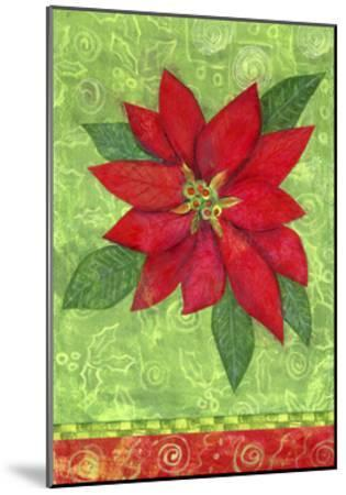 Poinsettia Collage Flag-Elizabeth Claire-Mounted Giclee Print