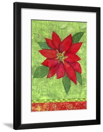 Poinsettia Collage Flag-Elizabeth Claire-Framed Giclee Print