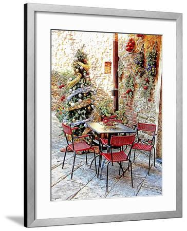 Dining Outside At Christmas Panicale-Dorothy Berry-Lound-Framed Giclee Print