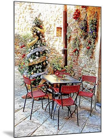Dining Outside At Christmas Panicale-Dorothy Berry-Lound-Mounted Giclee Print