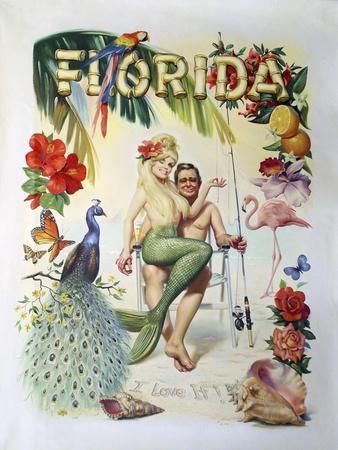 M35 Florida-D. Rusty Rust-Framed Giclee Print