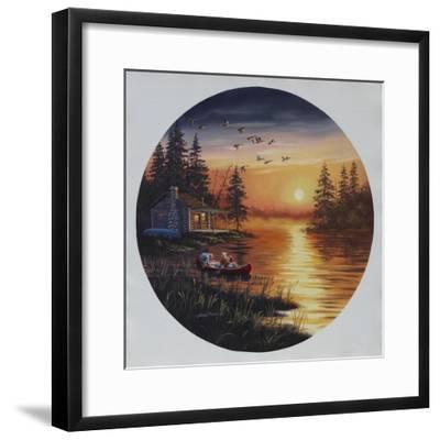 D45 Fishermen Canoe-D. Rusty Rust-Framed Giclee Print