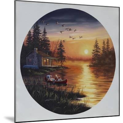 D45 Fishermen Canoe-D. Rusty Rust-Mounted Giclee Print