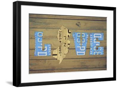 NJ State Love-Design Turnpike-Framed Giclee Print