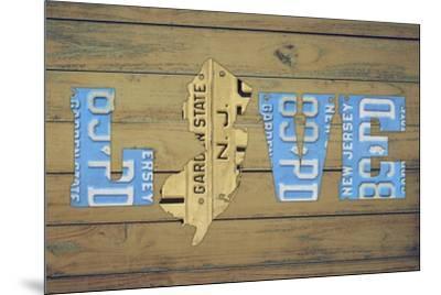 NJ State Love-Design Turnpike-Mounted Giclee Print