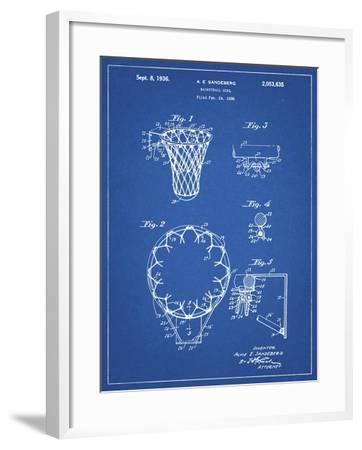 PP323-Blueprint Golden Gate Bridge Main Tower Patent Poster-Cole Borders-Framed Giclee Print