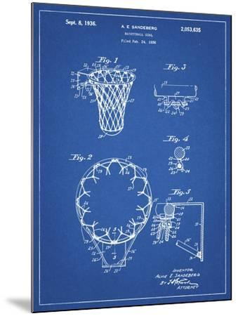 PP323-Blueprint Golden Gate Bridge Main Tower Patent Poster-Cole Borders-Mounted Giclee Print