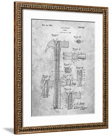 PP275-Slate Claw Hammer Patent Poster-Cole Borders-Framed Giclee Print