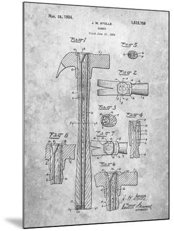 PP275-Slate Claw Hammer Patent Poster-Cole Borders-Mounted Giclee Print