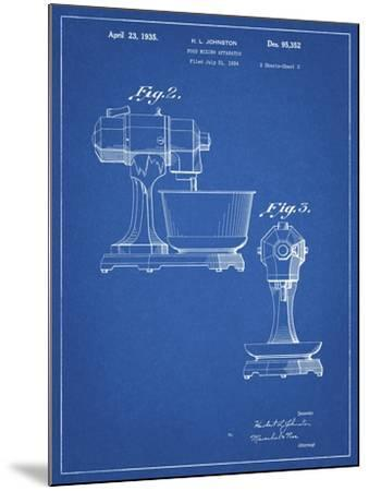 PP337-Blueprint KitchenAid Mixer Patent Poster-Cole Borders-Mounted Giclee Print