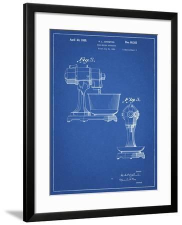 PP337-Blueprint KitchenAid Mixer Patent Poster-Cole Borders-Framed Giclee Print