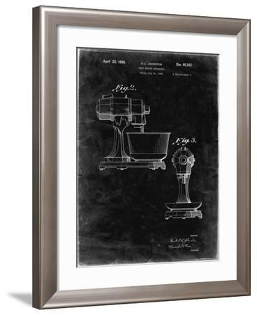 PP337-Black Grunge KitchenAid Mixer Patent Poster-Cole Borders-Framed Giclee Print