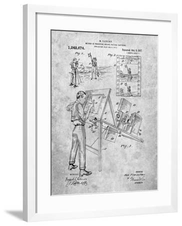 PP293-Slate Cartoon Method Patent Poster-Cole Borders-Framed Giclee Print