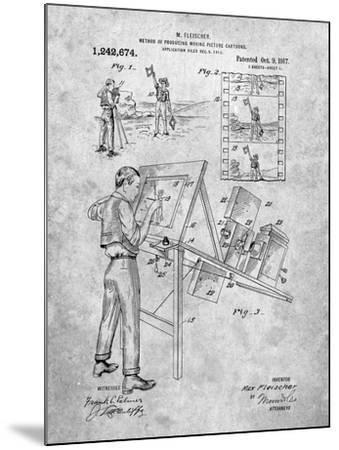 PP293-Slate Cartoon Method Patent Poster-Cole Borders-Mounted Giclee Print