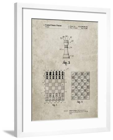 PP286-Sandstone Speed Chess Game Patent Poster-Cole Borders-Framed Giclee Print