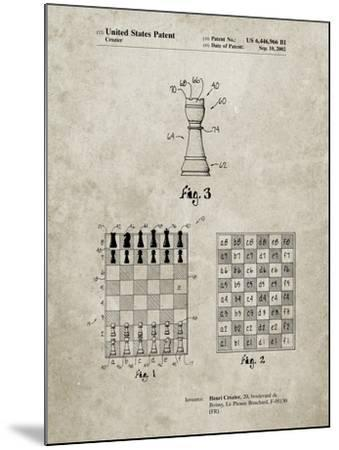 PP286-Sandstone Speed Chess Game Patent Poster-Cole Borders-Mounted Giclee Print