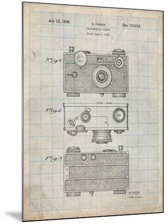 PP299-Antique Grid Parchment Argus C Camera Patent Poster-Cole Borders-Mounted Giclee Print