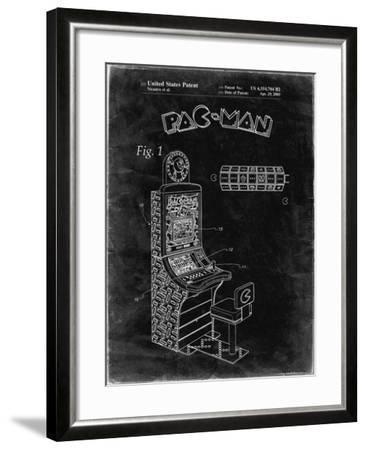 PP282-Black Grunge Fender Pedal Steel Guitar Patent Poster-Cole Borders-Framed Giclee Print