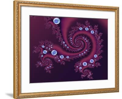 Marbleized Red-Fractalicious-Framed Giclee Print