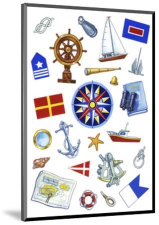 Nautical Theme Icons-Geraldine Aikman-Mounted Giclee Print