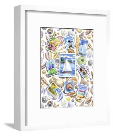 Postcards And Shells-Geraldine Aikman-Framed Giclee Print