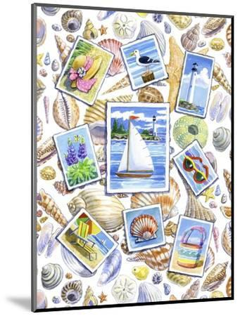 Postcards And Shells-Geraldine Aikman-Mounted Giclee Print
