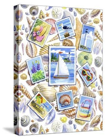 Postcards And Shells-Geraldine Aikman-Stretched Canvas Print