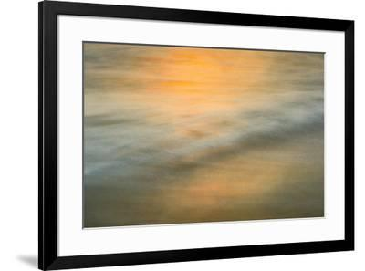 Long exposure at sunset of colors on water-Sheila Haddad-Framed Premium Photographic Print