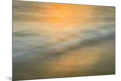 Long exposure at sunset of colors on water-Sheila Haddad-Mounted Premium Photographic Print