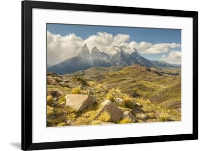 Chile, Patagonia. The Horns mountains.-Jaynes Gallery-Framed Premium Photographic Print