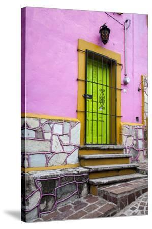 Mexico, Guanajuato, House in Guanajuato-Hollice Looney-Stretched Canvas Print