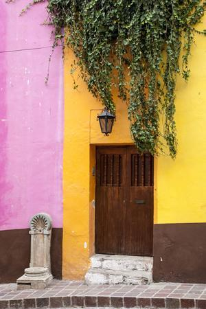 Mexico, Guanajuato, Door and Fountain in Guanajuato-Hollice Looney-Framed Premium Photographic Print