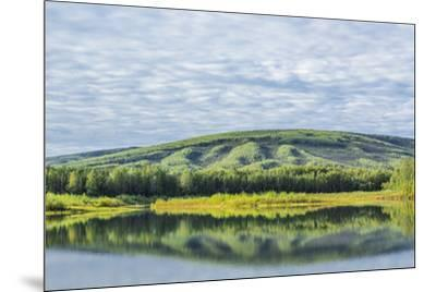 USA, Alaska, Olnes Pond. Landscape with pond reflection.-Jaynes Gallery-Mounted Premium Photographic Print