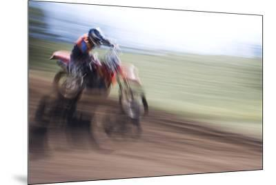 USA, California, Mammoth Lakes. Blur of motocross racer.-Jaynes Gallery-Mounted Premium Photographic Print