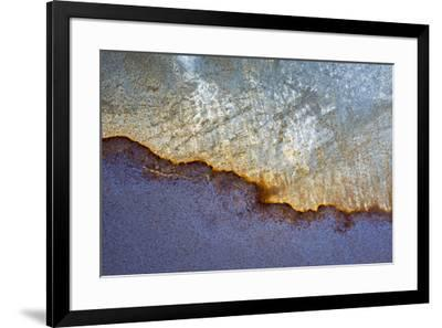 USA, California, Carrizo Plain National Monument. Abstract patterns on old machinery.-Jaynes Gallery-Framed Premium Photographic Print