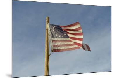 USA, Arizona. Apache Junction, Betsy Ross US flag, Apacheland Movie Ranch-Kevin Oke-Mounted Premium Photographic Print