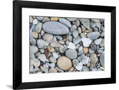 USA, California, Ft. Bragg, Close-up of Glass Beach Pebbles-Rob Tilley-Framed Premium Photographic Print