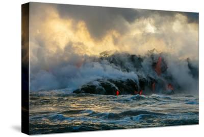 Lava Boat Tour, Kilauea Volcano, Hawaii Volcanoes National Park, Hawaii-Douglas Peebles-Stretched Canvas Print