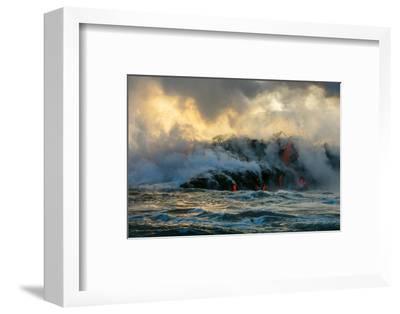 Lava Boat Tour, Kilauea Volcano, Hawaii Volcanoes National Park, Hawaii-Douglas Peebles-Framed Premium Photographic Print