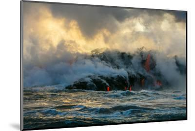 Lava Boat Tour, Kilauea Volcano, Hawaii Volcanoes National Park, Hawaii-Douglas Peebles-Mounted Premium Photographic Print